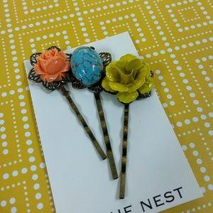 Happy Sunny  Hair Pins